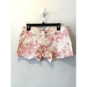 Levi's Pink Coral Denim Shorty Shorts Aztec